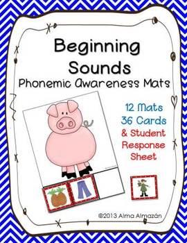 Beginning Sound Phonemic Awareness Mats