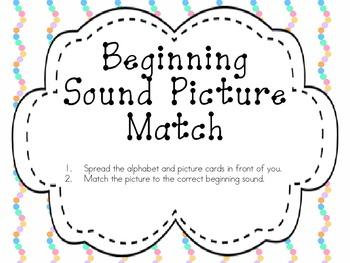 Beginning Sound Picture Match
