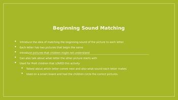 Beginning Sound Picture Matching