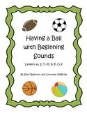 Beginning Sound Practice Sheets #1