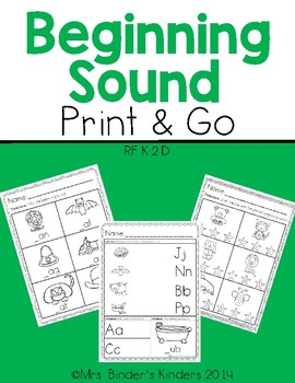 Beginning Sound ~ Print and Go