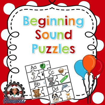 Beginning Sound Puzzles - Literacy Centers