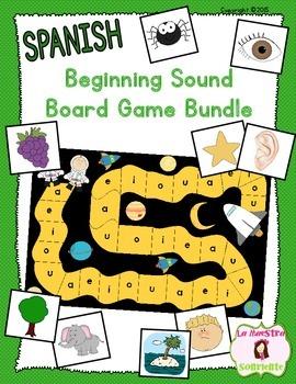 Beginning Sound Recognition: Initial Sound Board Game BUND