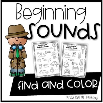 Beginning Sound Search - Print and Go Worksheets