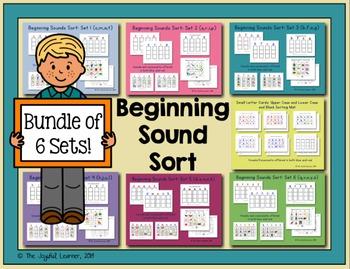 Beginning Sound Sort Bundle, Sets 1-6