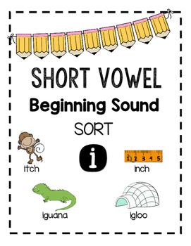 Beginning Sound Sort - Short Vowel i