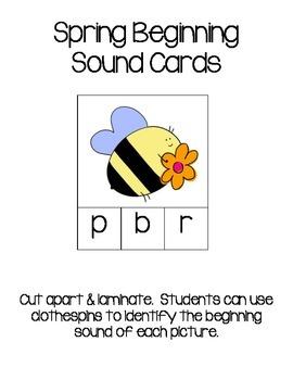Beginning Sound Spring Cards