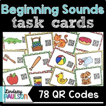 Beginning Sound Task Cards QR Code