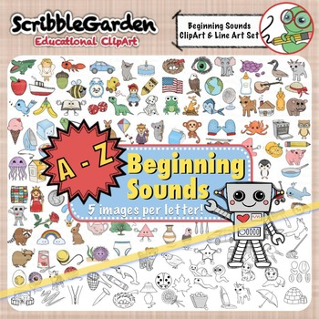 Beginning Sounds A to Z ClipArt