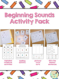 Beginning Sounds Activities Pack