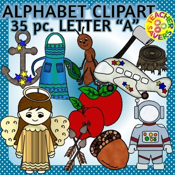 Beginning Sounds Alphabet Clip Art Set Commercial and Pers