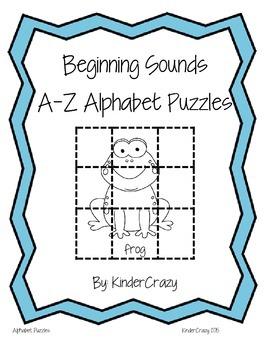 Beginning Sounds Alphabet Puzzles Pack