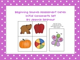 Beginning Sounds Assessment Cards:  Initial Consonants