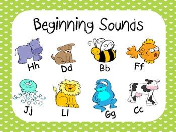 Beginning Sounds -B,C,D,F,G,H,J, L