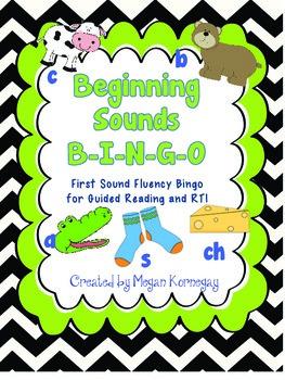 Beginning Sounds Bingo First Sound Fluency DIBELS for Guid