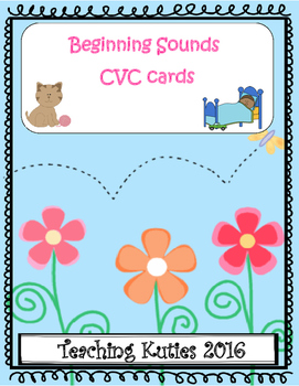 Beginning Sounds CVC word cards