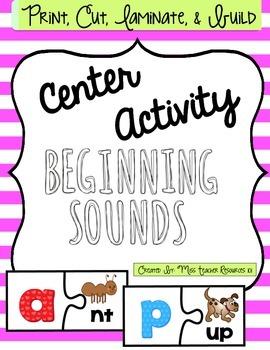 Beginning Sounds Center {Freebie}