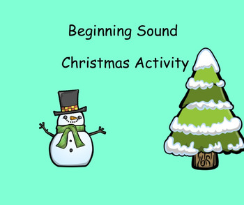 Beginning Sounds Christmas Game