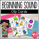 Beginning Sounds Clip Cards!