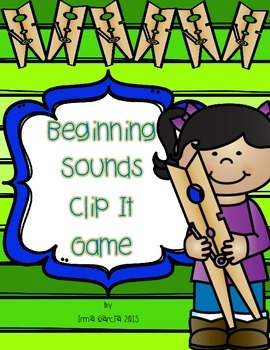 Beginning Sounds Clip It Game