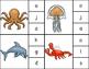 Beginning Sounds Clothes Pin Clip Cards: Ocean Animals