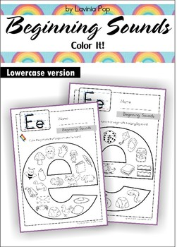 Beginning Sounds - Color It! (lowercase version)