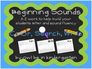 Beginning Sounds: Color, Search & Write