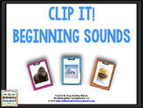 Beginning Sounds Creation -- Clip it! A Common Core Creation