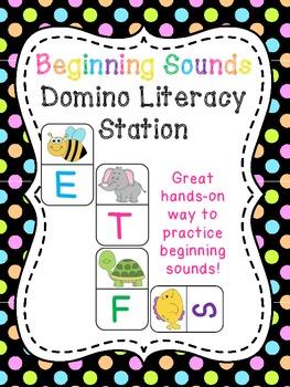 Beginning Sounds Center (Dominoes Literacy Station)