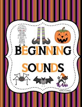 Beginning Sounds Halloween Center Activity!