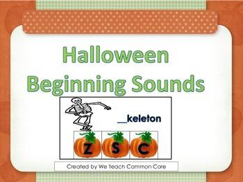 Beginning Sounds Halloween Daily 5 Word Work Literacy Cent
