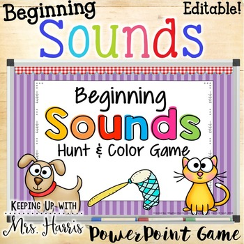 Beginning Sounds Hunt & Find PowerPoint