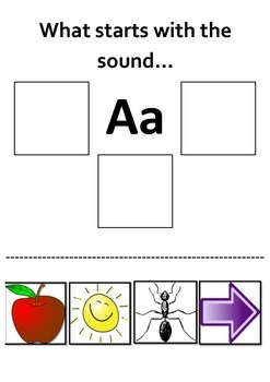 Beginning Sounds Letter A - Phonics