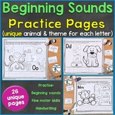 Beginning Sounds (Phonics) Practice Pages