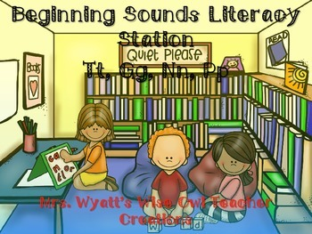 Beginning Sounds Literacy Station Tt, Gg, Nn, Pp