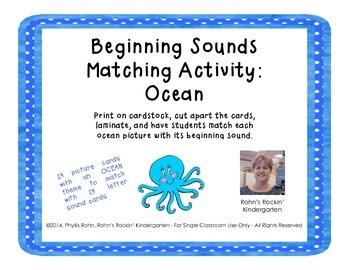 Beginning Sounds Match: Ocean
