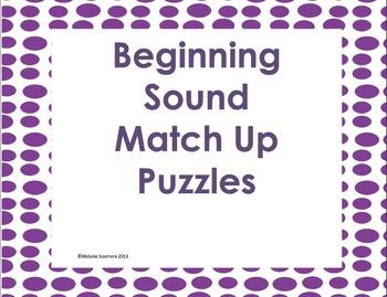 Beginning Sounds Match Up Puzzles