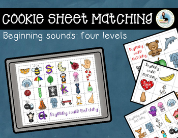 Beginning Sounds Matching Cookie Sheet and Magnet Letters