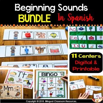 Beginning Sounds Mega Pack {Spanish Version}.