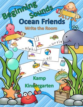 Beginning Sounds Ocean Friends Write the Room