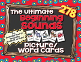 Beginning Sounds Picture Cards - Ultimate Pack of 278 5x7