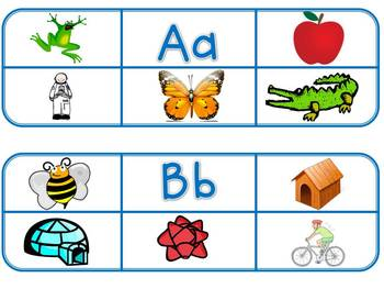 Beginning Sounds Picture Clip Cards
