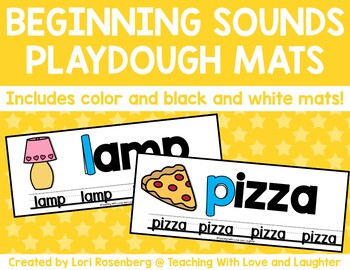 Beginning Sounds Play Dough Mats