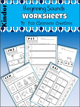 Beginning Sounds Printables Packet
