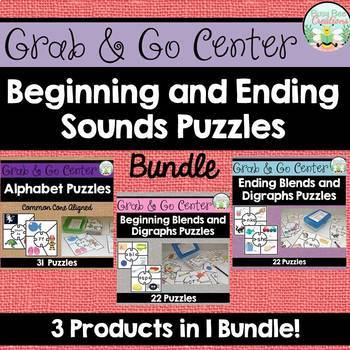 Beginning and Ending Sounds Puzzles - Bundle