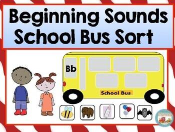 Beginning Sounds School Bus Sort CCSS.ELA.RF.K.2d