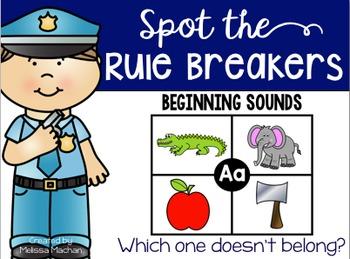 Beginning Sounds - Spot the Rule Breakers