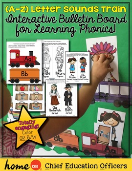 Beginning Sounds: A to Z Letter Sounds Train Activity