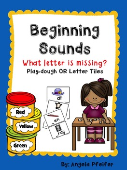 Beginning Sounds Literacy Station- What letter is missing?