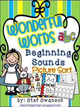 Beginning Sounds {Wonderful Words!} Picture Sort